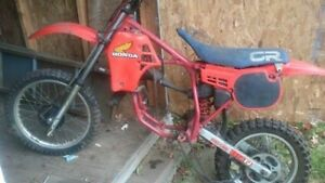 Looking for free dirt bike frame or Shocks 125cc up