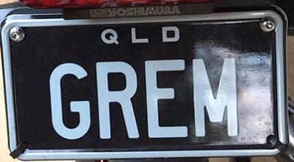 """PRESTIGE NUMBER PLATE QUEENSLAND PPQ - """" GREM """""""
