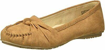 Jellypop Women's Porter Slip-On Loafer Flat Camel Brown Size 6.5 M US