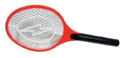 Handheld Bug Zapper Tennis Racket Electronic Flyswatter 1500V Takes 2 AA Cells ()