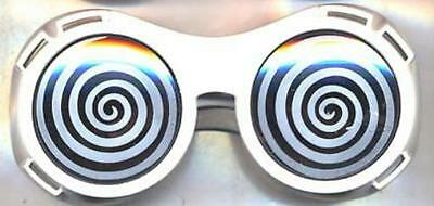 White X-Ray Hypnotizing Sunglasses with Swirl Lens - Hypnotizing Swirl