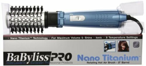 BABYLISS PRO BABNT178 NANO TITANIUM 2 INCH ROTATING HOT AIR BRUSH