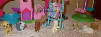 Barbie - PARC À CHIENS - tourniquet  / 2 JEUX / 20 MCX 20$