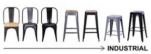 Tolix Style Industrial Bar Stool Barstool Restaurant Chair Metal