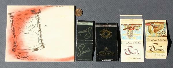 1950s Las Vegas,Nevada Sands Casino Dick Haymes show program & 4 matchbook set!*