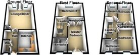 4BED 2BATH 3 WC TOWN HOUSE *SPACIOUS *QUITE LOCATION *Nr AMENITIES * 20 min EXETER