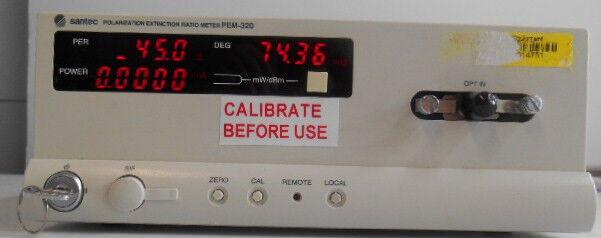 Santec  Pem-320 Polarization Extinction Ratio Meter