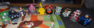 7 Paw Patrol Figures and Vehicles