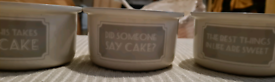 Cake bowls