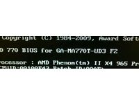AMD phenom ii x4 965+gigabyte motherboard