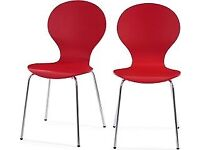 Made Kistch Dining Chairs - Red Pair