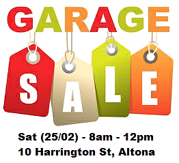 Garage sell - altona Seaholme Hobsons Bay Area Preview