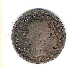 Coin 1875 Great Britain 3 Pence Kingston Kingston Area image 1
