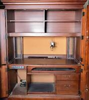 MINT Condition HomeOffice Armoire Hooker Furniture - Solid Wood
