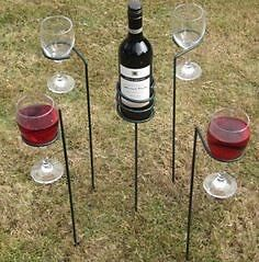Wine glass and Bottle stake holder