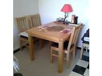 Harveys Brookes Extending Dining Table Solid Oak