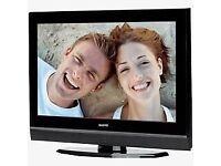 Refurbished 6 Months Warranty Sanyo 26 Inch Flat Screen TV, Freeview, HD Ready, HDMI. VGC