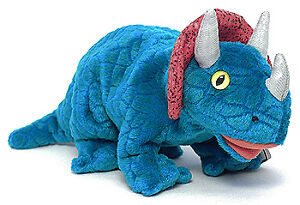 Hornsly the triceratops Ty Beanie Baby stuffed animal dinosaur