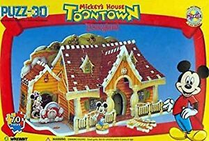 Mickey's House in Toontown Disneyland, 70 Piece 3D Puzzle