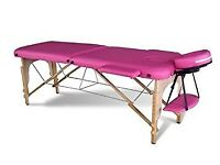 Never been used pink massage bed