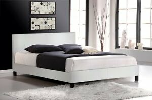 Leather Platform Bed, NEW w/ FREE Delivery!