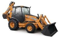 Rubber-Tired Backhoe for Rent or for Hire