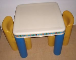 LittleTikes Table & Two Chairs  & Bassinet 4-in-1