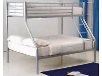 Siver Metal Double & Single Bunk Beds