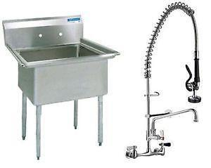 Commercial Sinks On Ebay : Compartment Sink Faucets