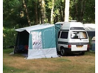 Ventura Freestander Awning/Porch green/grey, perfect condition (originally bought for £900)