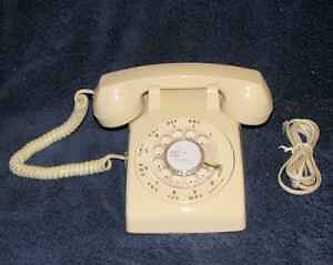 Northern Telecom Beige Desk Rotary Dial Telephone