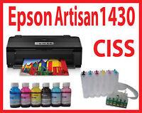 13x19 Epson 1430 Printer+CISS+Dye Bulk Ink,Pigment,Sublimation