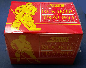SCORE 1990 NHL rookie and traded 110 player card setFACTORY SEAL