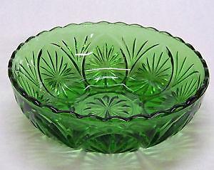 Vintage Green Glass Bowl St. John's Newfoundland image 1