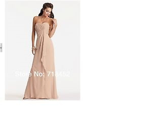 Beautiful Prom/Bridesmaid Dress - Champagne Pink Chiffon!
