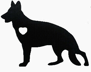 "8/"" latido del corazón de rescate de Vinilo Autoadhesivo Con Ventana De Coche Portátil Pata Gato Perro del animal doméstico aman"