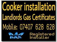 Gas engineer. Cooker and Hob Installations. Landlord gas certificates. Gas cooker fitter/fitting