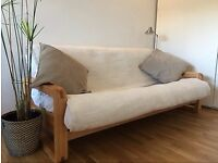 SOFA BED - NEW 3 Seater Solid Birch Sofa Bed Frame. Converts to bed in seconds