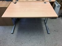 Office Desk for quick sale due to relocation. Only £20 Beech colour L120 W80 H71