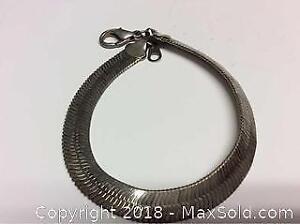 Sterling Silver Herring Bone Bracelet