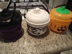Set Of 3 1993 Mcdonalds Halloween Toy Buckets/Cookie Cutters