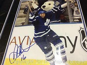 Darcy Tucker Signed Framed Leafs Photo A