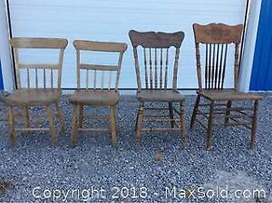 Antique Wooden Chairs A