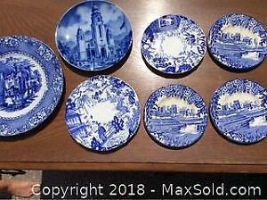Blue And White China Plates
