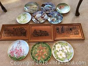 Copper Etchings And Collector Plates A