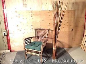 Rattan Chair, and Bamboo decor C