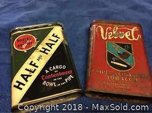 Antique Pocket Tobacco Tins