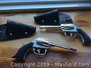 Plastic Toy Guns And Holsters Vintage