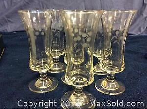 Cornflower Crystal Glass Set Of 6 A