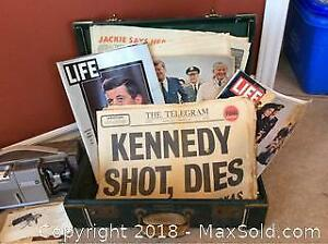 1963 Newspapers, Magazines And Suit Case B